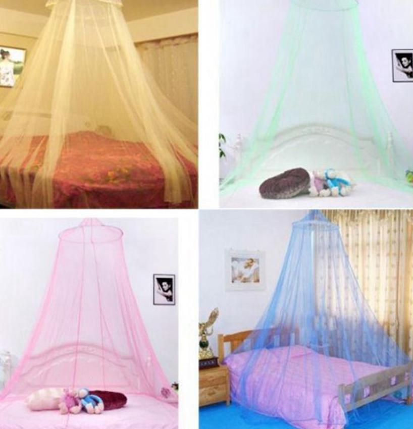 홈 인테리어에 대한 상위 라운드 그물 모기 기형 돔 침대 돔 텐트 아기 성인 천장 행잉 장식 천 높이 2.4m 이상 KKA7825 침대 매달려