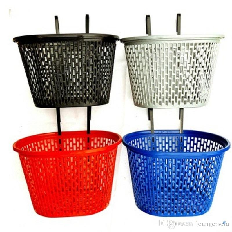 2020 Pure Color Plastic Bike Basket Simplicity Beautiful Practical City Bicycle Baskets High Capacity Anti Wear Hot Sale High Hardness 5 9gxI1 From