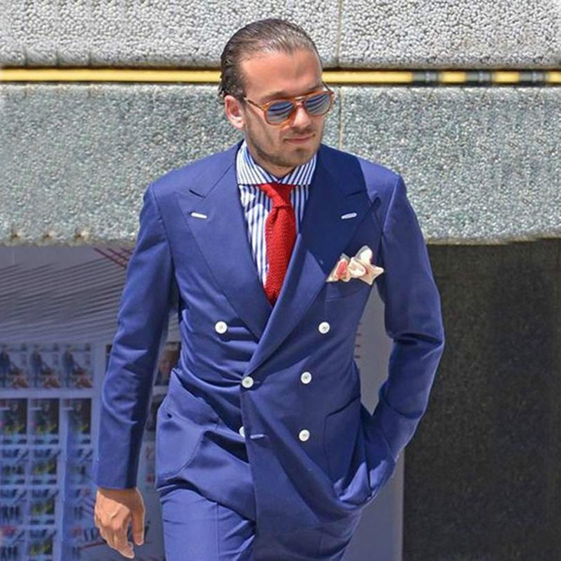 Nouvelle Arrivée Hommes Mariage Tuxedos Formel Slim Fit Fashion à double boutonnage Hommes Blazer Deux Pièces Cuisson d'affaires (veste + pantalon)