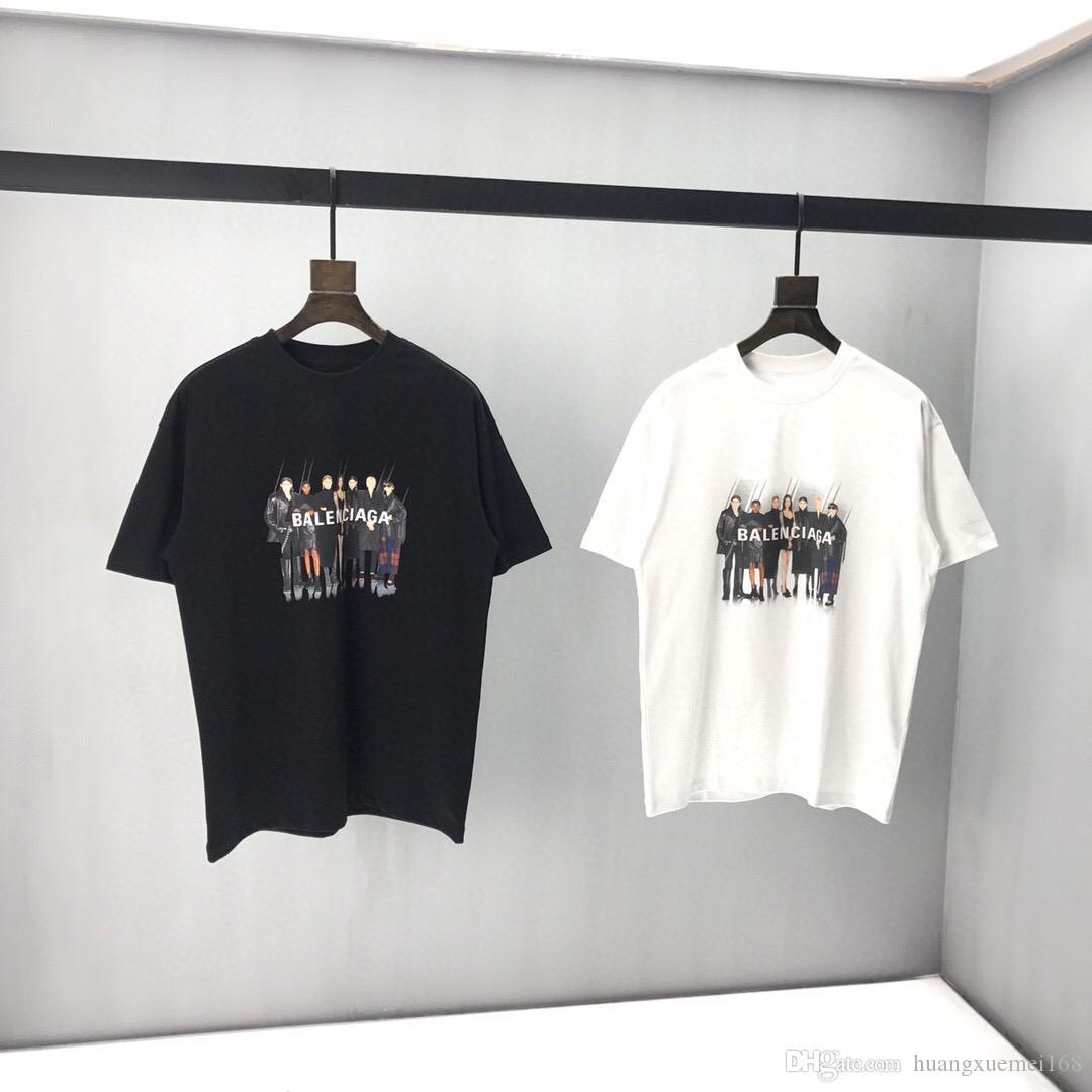 2020ss Sommer hochwertiger Baumwolle Männer T-Shirt Luxus O-Neck Frauen-T-Shirt Kurzarm Top Drucken T-Shirt Größe M-3XL TS25
