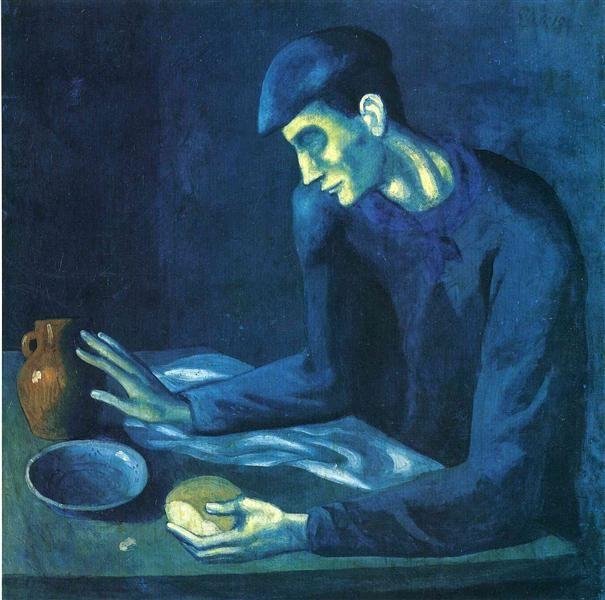 Pablo Picasso classica 100% Dipinto Da pittura a olio a mano su tela di canapa colazione di un cieco