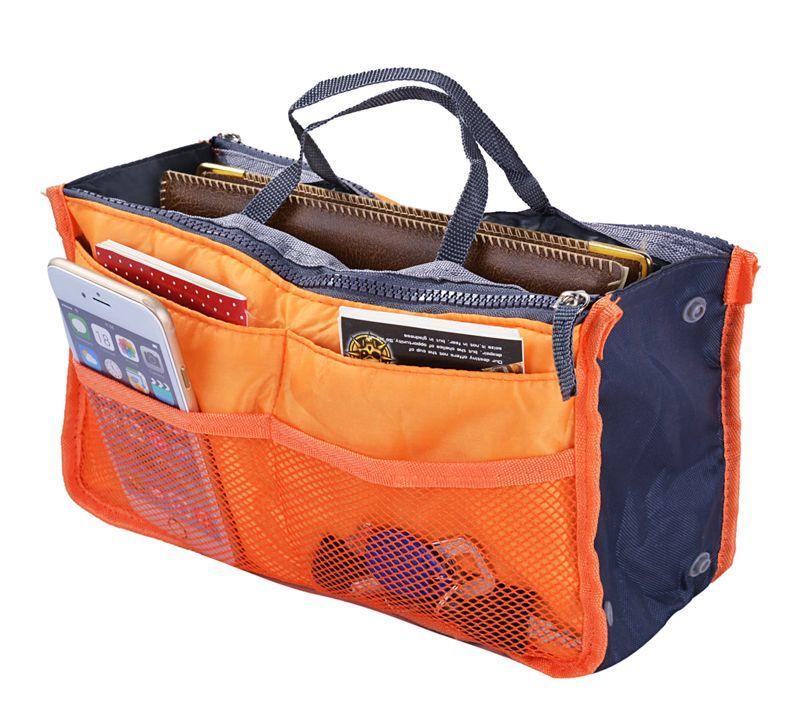 Orange Sac fourre-Tout Femme Organisateur fourre-Tout Sac de Voyage Femme Organisateur de Sac /à Main Sac /à Main Grande Doublure Dame Maquillage Maquillage Sac cosm/étique