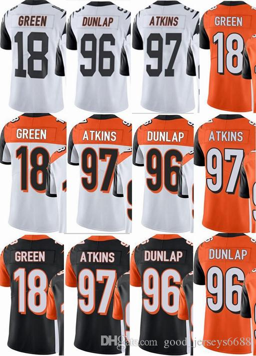 the latest b9973 ccd87 2019 Bengals Custom Men/Youth/Women #18 A.J Green 96 Carlos Dunlap 97 Geno  Atkins Vapor Untouchable Limited/Rush/Elite Jerseys From Good_colorful, ...