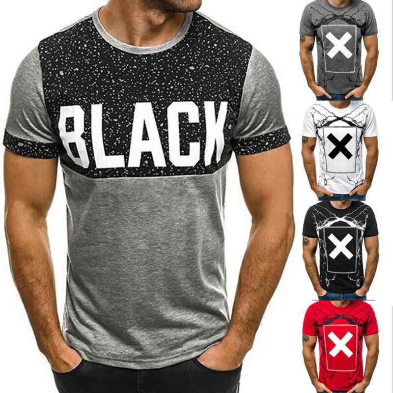 O manica corta da uomo di estate del manicotto di base T-shirt T-Shirts Uomo Casual T-shirt
