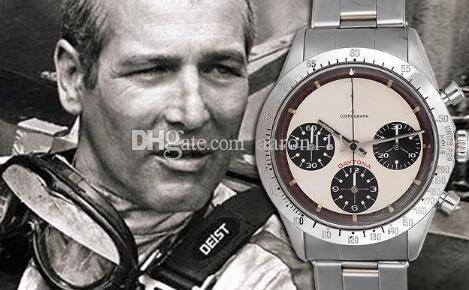 Vintage 6239 6240 6263 Paul Newman 37mm Melhor Edição ST19 mão manual enrolamento paulnewmen homens relógio de pulso Cronógrafo inoxidável