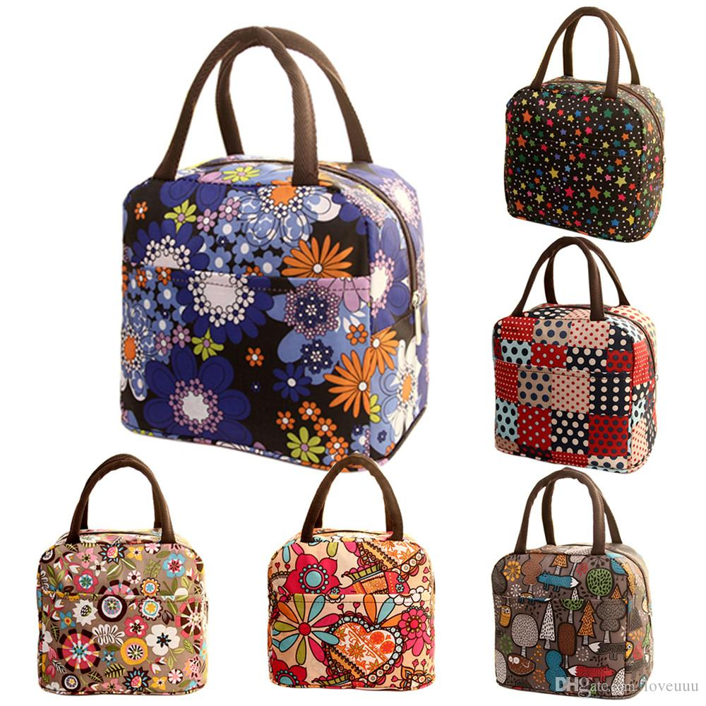 NEW Lunch Food Handbag Kids Insulated Tote Thermal Picnic Bag Cooler Warm Pouch