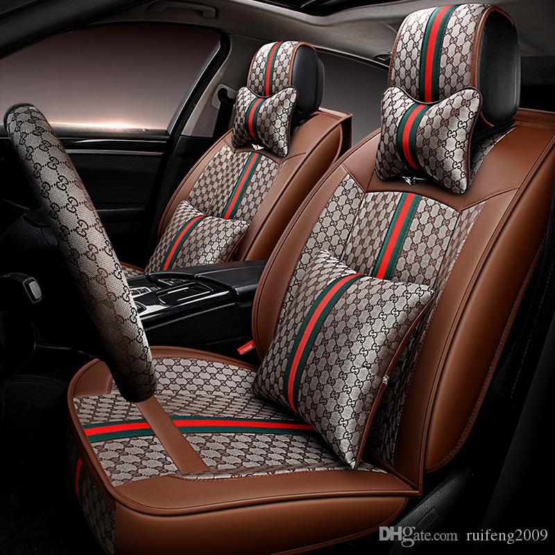 Black Grey Leather Car Seat Covers For Honda CR-V CRV CR V 2012-2017