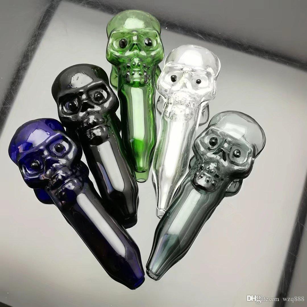 Grande tubo ossa del cranio bong di vetro all'ingrosso del bruciatore a nafta Pipes bicchiere d'acqua piattaforme petrolifere per i fumatori