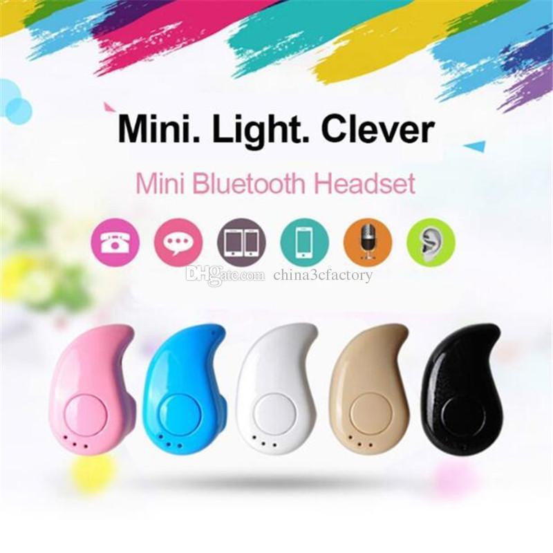 S530 Mini Wireless Bluetooth headphones Stereo Headphones wirelessHeadset Earbuds With Micro with retail box For Iphone Samsung