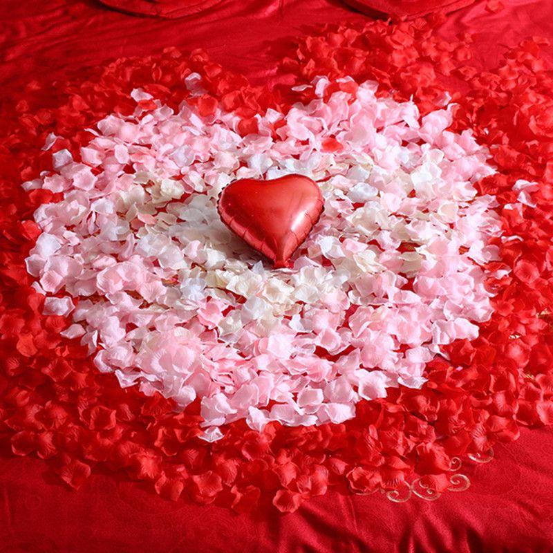 500 قطع 5 * 5 سنتيمتر بتلات الحرير الاصطناعي بتلات الوردي الأحمر الأحمر الزفاف ل حفل زفاف الديكور 6ZSH012-500PCS