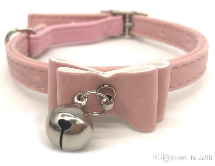 Pet fornisce sacco WL97 collare del gatto campana arco affollamento collare campana cucciolo e del collo del gatto 20pcs catena /