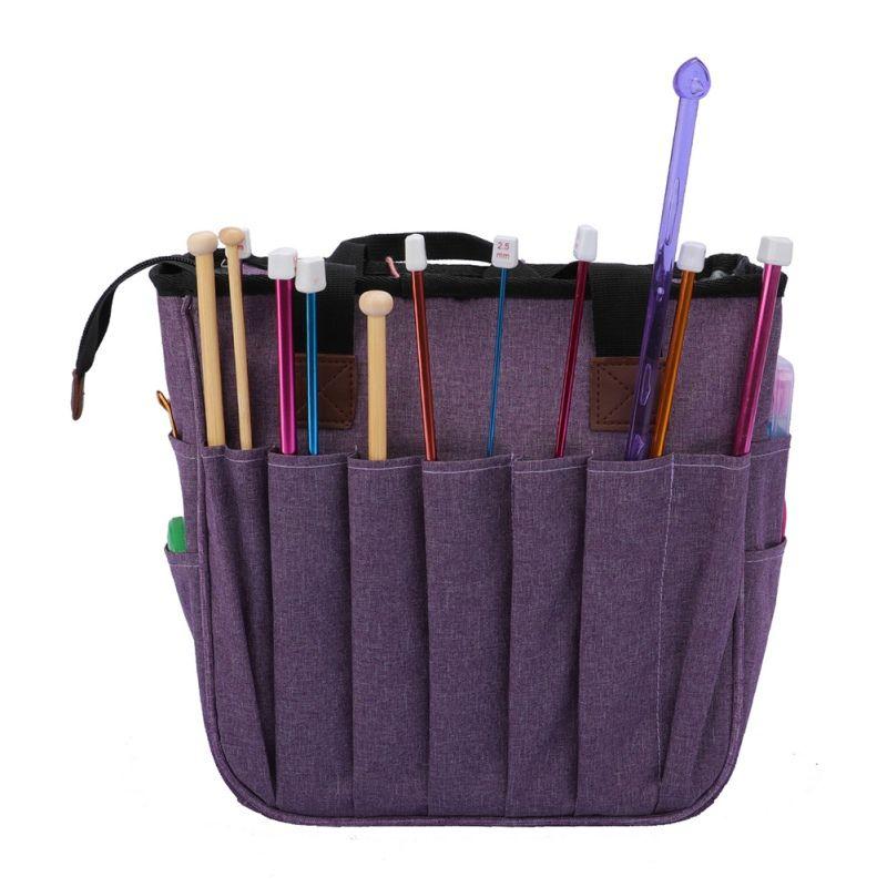 Große Strickgarn Lagerung Crochet Tasche Handtasche Garn Organizer ForNeedlework Zusatz für Fadenspeicher Sewing Supplies