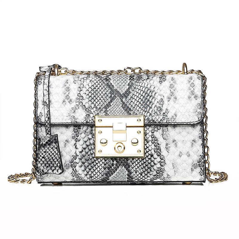 Handtaschen-Frauen-Beutel-Leder-Schulter-Beutel-Geldbeutel-Abend-Handtaschen Ketten-Verschluss Mode Flap 2019 SEQUINED