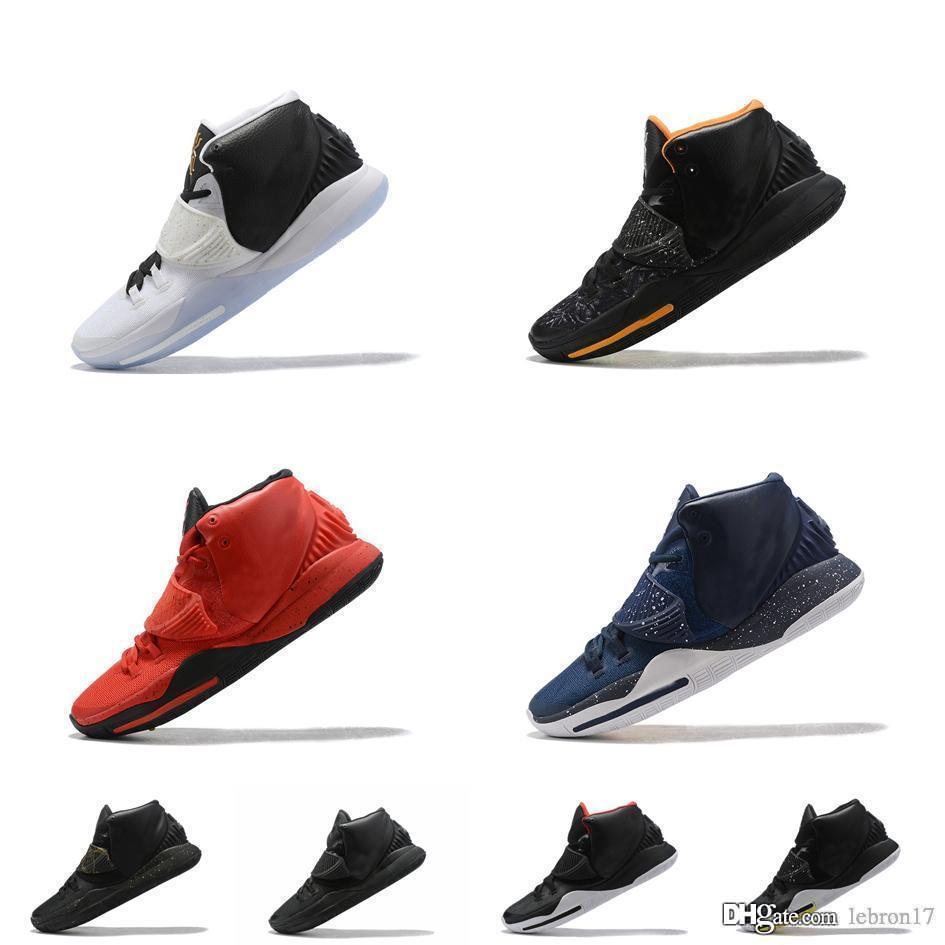Новые мужское Кирие-VI баскетбол обувь Черного Белого Золото Синего Oreo BHM Красных дети Леброн Джеймс 17 высоких kyries Irving кроссовок ботинок с коробкой