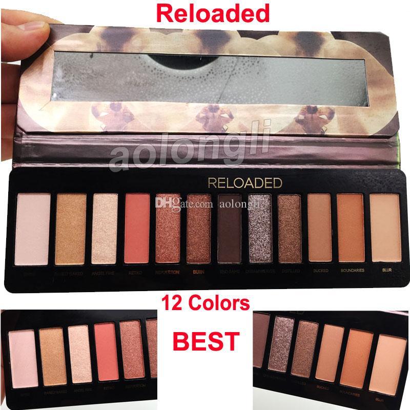 New RELOADED 12 cores dos olhos palette sombra NU Matte brilho Eyeshadow Reloaded Palette DHL shiping livre