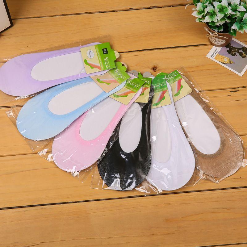 6 ألوان رخيصة الكورية السيدات مصمم الجوارب الفتيات كبيرة البوليستر رقيقة قارب الجوارب غير مرئية الجوارب الكاحل الرياضية
