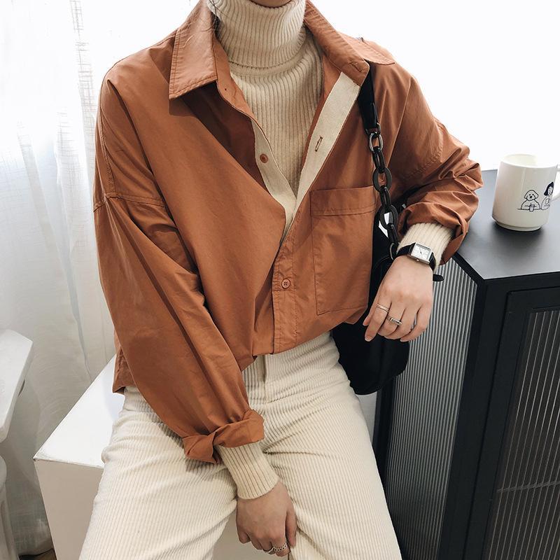 Sherhure 2020 Nova Mulheres Spring Design de Moda Oversized Womens tops e blusas de algodão shirt Blusas Roupa Feminina