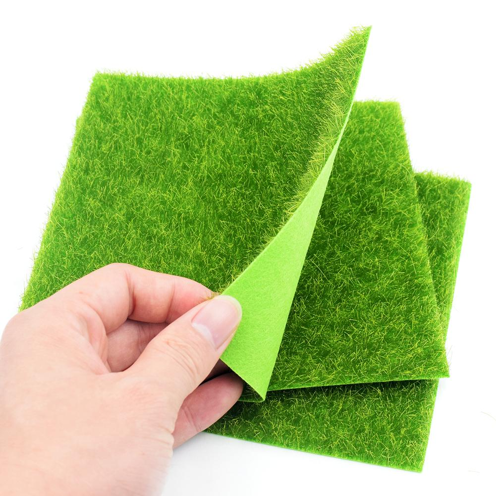15x15cm 30x30cm Grass Mat Green Artificial Lawns Small Turf Carpets Fake Sod Home Garden Moss Home Floor Diy Wedding Decoration C19041302