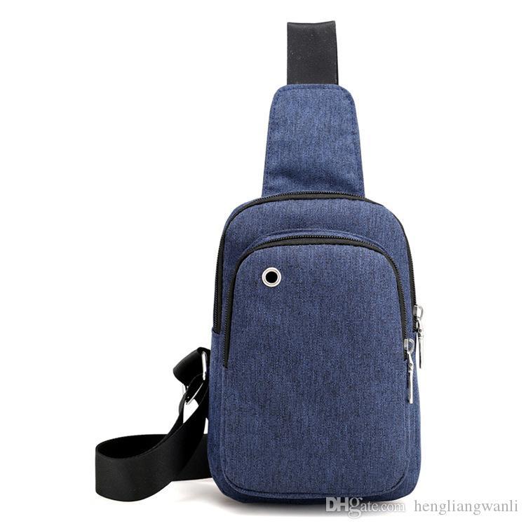 Nouveau mode sac coréenne poitrine hommes occasionnels hommes imperméable en nylon et des femmes poitrine sac Messenger sac équitation Voyage de sports de plein air