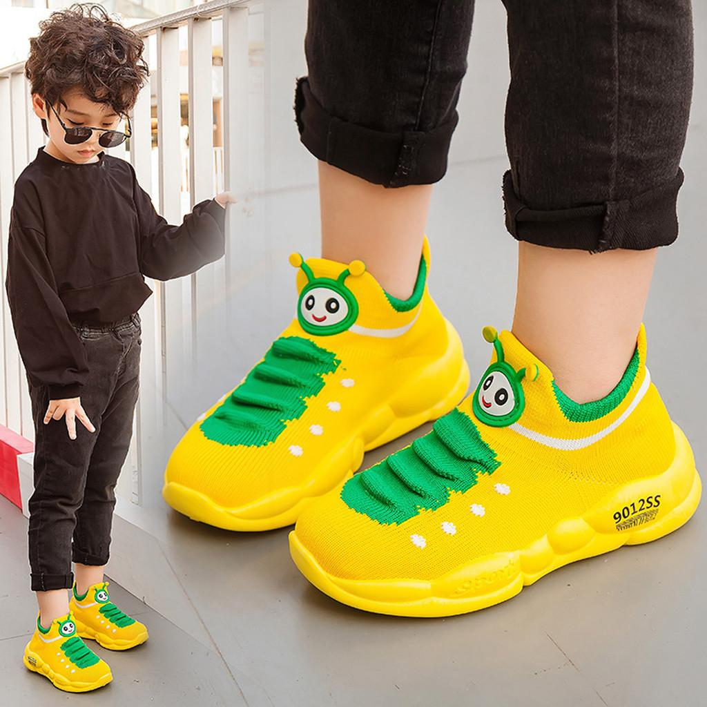 Toddler Girl Boy Sport Stretch Mesh Shoes Cartoon Infant Kid Baby Sport Sneakers