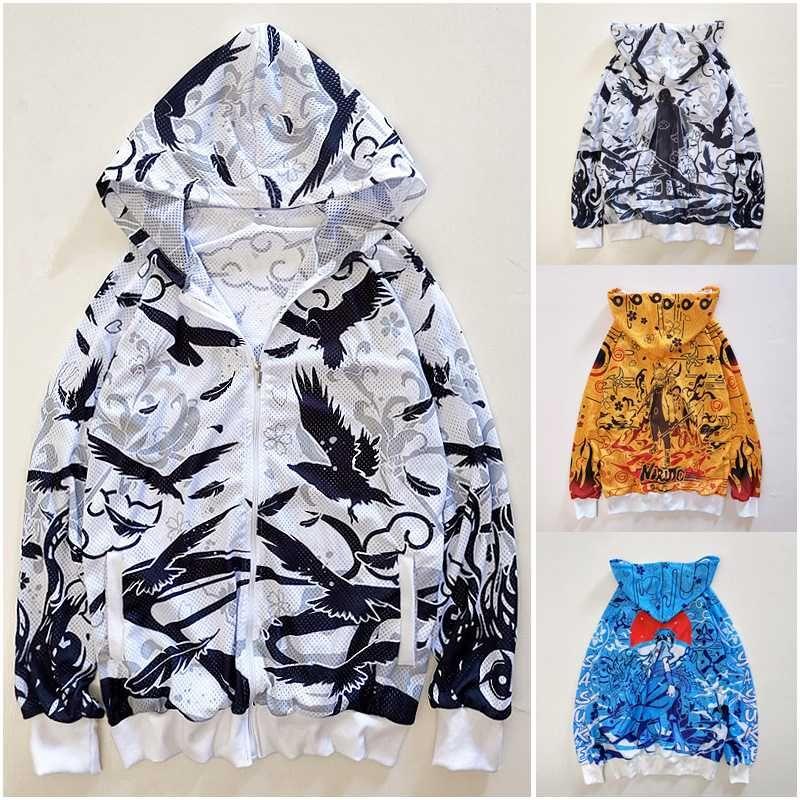 Uzumaki Uchiha의 사스케 이타치 코스프레 일 보호 의류 지퍼 애니메이션 통기성 스포츠 재킷