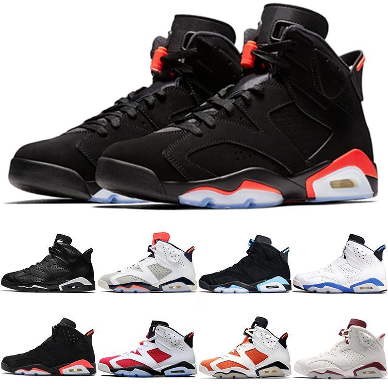الأشعة تحت الحمراء 6 6S أحذية كرة السلة للرجال جديدة ولدت المصلح UNC القطة السوداء الأبيض كارمين مصمم رجالي الاحذية الرياضية رياضية أحذية رياضية حجم 8-13