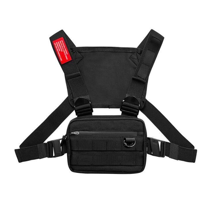 2020 Новый Мужчины Chest Rig Streetwear жилет спорта талии сумка Military Utility пакет плеча мешок телефона деньги Tactical Chest Сумки Жилет K82C