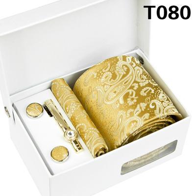 Herren Blumen Taschentuch Krawatte Krawattennadel Manschettenknöpfe Set mit Box