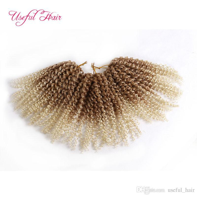 hot sell Malibob crochet hair 8inch Kinky Kurly barley braid kanekalon Synthetic Hair Extension marlibb Bug 3pcs Lot Crochet braids Hair