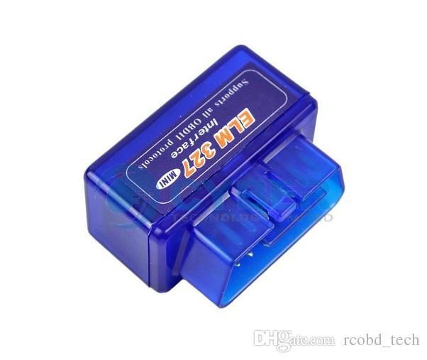 Super MINI ELM327 Bluetooth ELM 327 Versão V2.1 Branco ELM327 interface OBD2 / OBDII para Android Sistema 327 OBD2 Ferramenta De Diagnóstico
