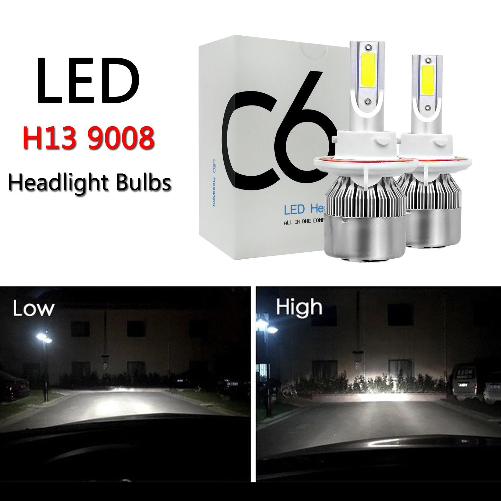 areourshop h13 9008 c6 led مصباح التصوير أطقم المصابيح مرحبا / منخفض شعاع عالية الطاقة 6000 كيلو سيارة اكسسوارات السيارات أجزاء