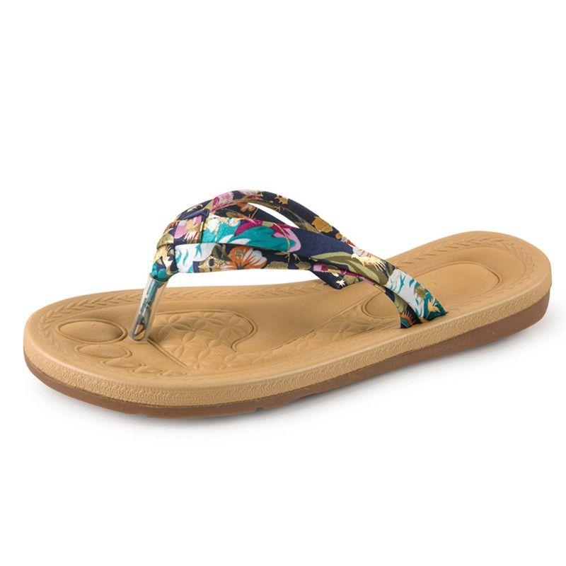 2018 Women Fashion Summer Flat Flip Flops Sandals Loafers Bohemia Shoes Ssandales Femme 2018 Nouveau Zapatos Mujer 0427 #10188