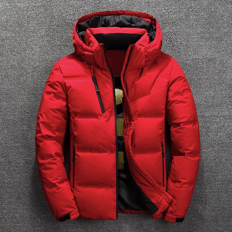 Rivestimento di inverno spesso strato di neve Mens Parka Maschio Warm Outwear Fashion basso gli uomini giacca vestiti caldi