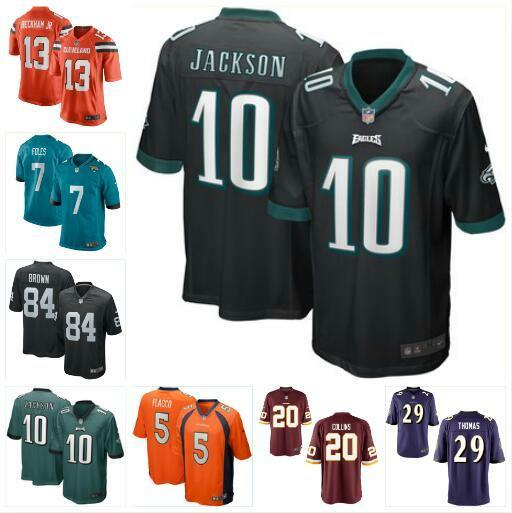 new product fdc93 a468f 2019 DeSean Jackson Joe Flacco Jersey Eagles Broncos Antonio Brown Nick  Foles Odell Beckham Jr Landon Collins American Football Jerseys Apparel  From ...