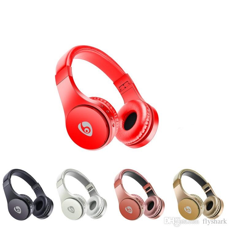 Led Breathing Light Bluetooth Headphones With Foldable Headband Wearing Wireless headphones Head-mounted Music Player With Retail Packing