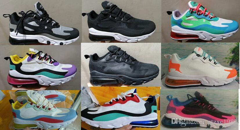 Üçlü Siyah Çekirdek Beyaz 270 Tepki Bauhaus Erkekler Kadınlar Koşu Ayakkabıları Klasik OG 27C Optik Bred Eğitmen Açık Spor Sneakers