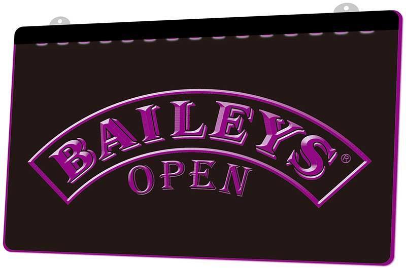 LS1212 0 Baileys cerveza abierta RGB inicio de sesión múltiple Color Mando a Distancia grabado 3D LED luz de neón barra de la tienda del club del Pub