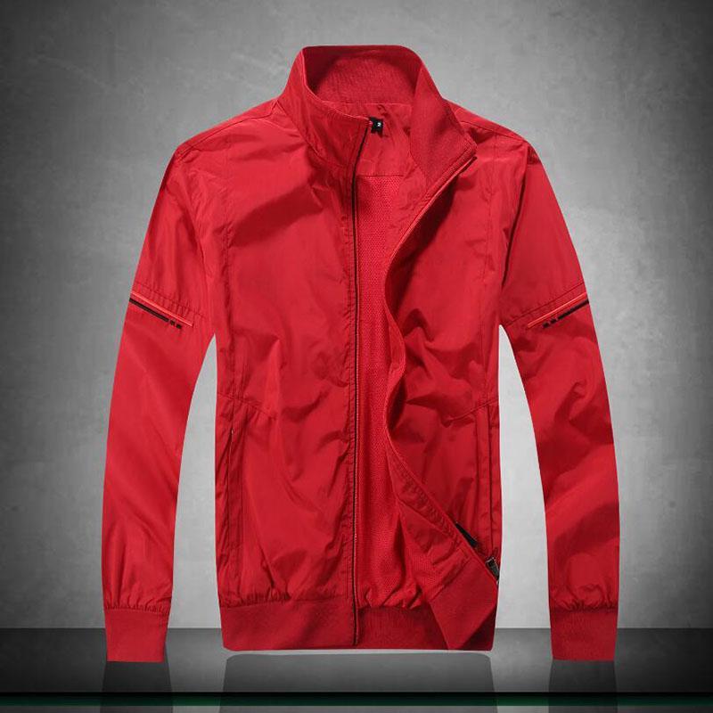 Fashion Mens Jackets Casual Long Sleeve Cotton Sportswear Male Bomber Jacket Coats Brand Zipper Men Clothes Size M-2XL