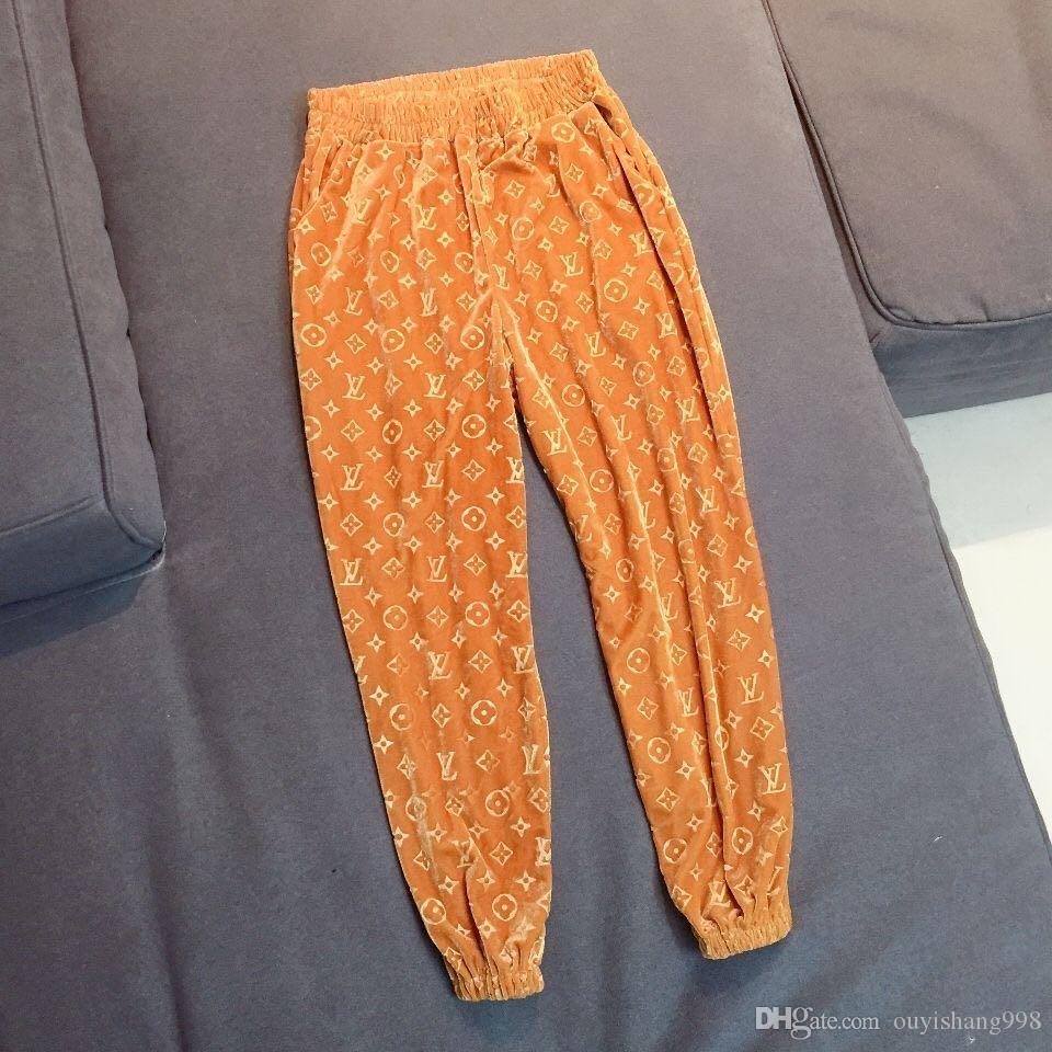 3D altın kadife bacak pantolon büyük boy ince harem sonbahar ve kış rahat eşofman gevşek kabartmalı