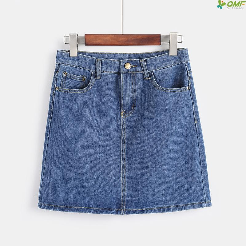 Hot Sale 2019 Summer Jeans Mini Skirts For Girl Plus Size Casual Miniskirt Streetwear A-line Skirt New Arrivals Denim Falda