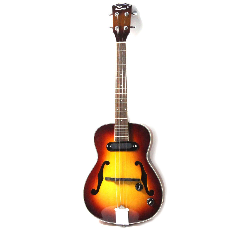 Jazz Ukulele F agujero Mini Acoustic 4 Cuerdas Ukelele Con Pickup