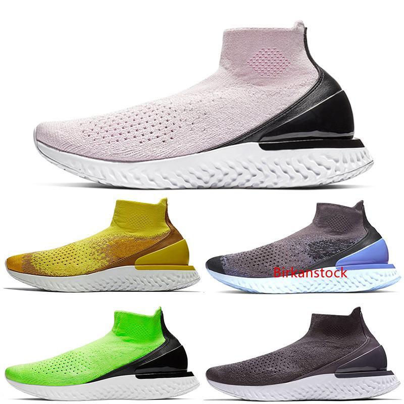 Reaccionar calcetín mujeres de los hombres de los zapatos corrientes ocasionales Triple Negro gris Thunder melocotón en polvo brillante de color amarillo diseñador zapatillas deporte zapatilla de deporte 36-45 euros