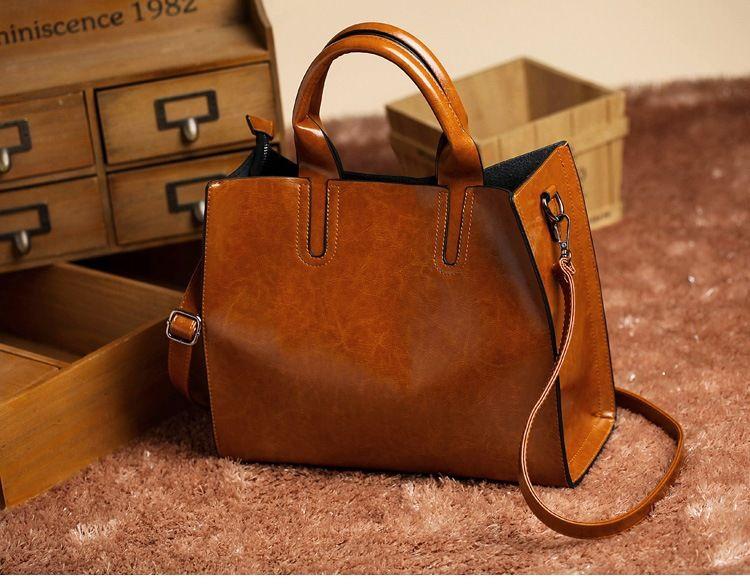 décontracté simple, cru couleur unie épaule de mode sac femmes sac à bandoulière en cuir PU Messenger Sac fourre-tout