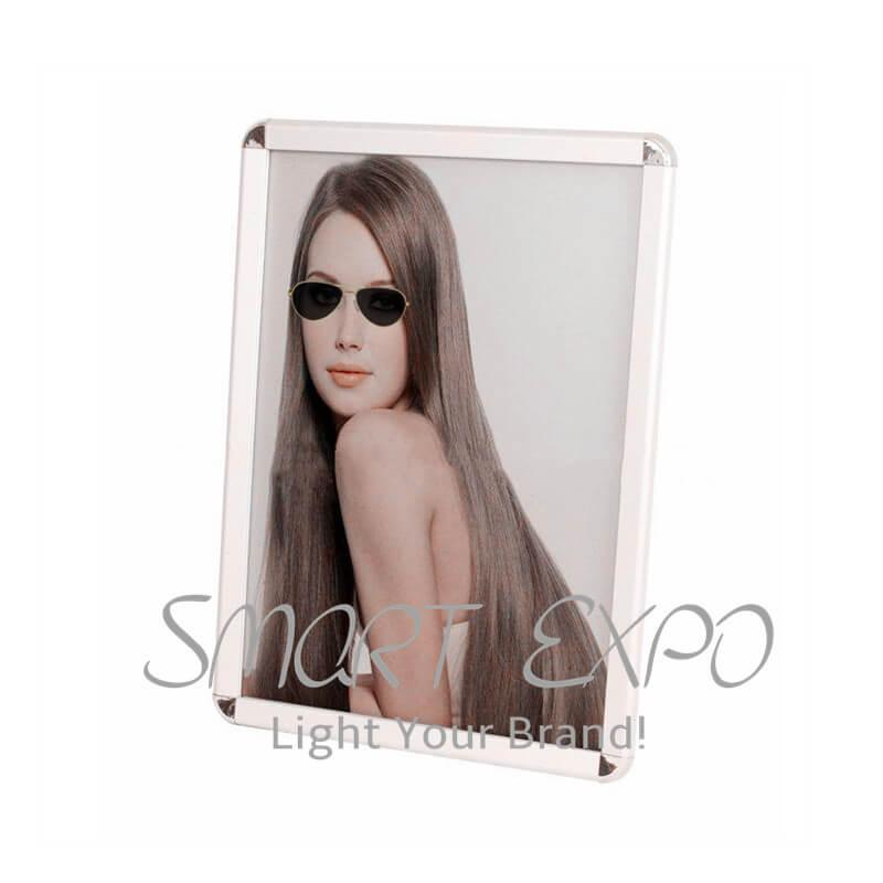 A4 Aluminum 32mm Profile Snap Frame Click Poster Frame For Advertising And Photo Display With 32mm Round Or Mitered Corner Customized Sizes