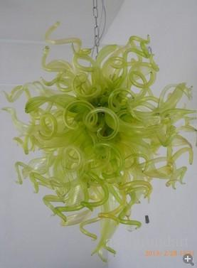 100 % 입 풍선 CE UL 붕규산 무라노 유리 데일 치 훌리 (Dale Chihuly) 예술의 꿈 녹색 빛 미국 스타일 샹들리에