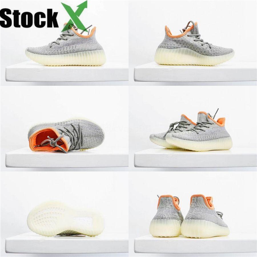 Nouveau bébé chaussures pour enfant Zebra Kanye West V2 Sneakers Clay Reflective Boy Chaussures de course tout-petits Sport Fille Entraîneur Sneaker Vert Rose # 766