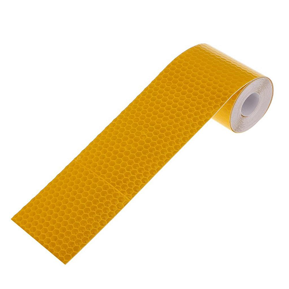 New 3M Reflective Safety Warning Conspicuity Tape Film Sticker (Golden Yellow)