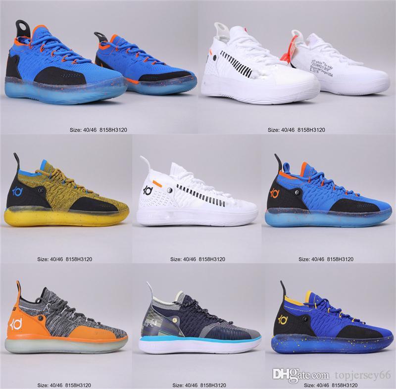 2020 أحذية جديدة ديورانت KD 11 EP الأبيض أورانج رغوة الوردي المذعور أوريو ICE كرة السلة الأصل كيفن دورانت XI KD11 رجل حذاء رياضة حجم 40-46