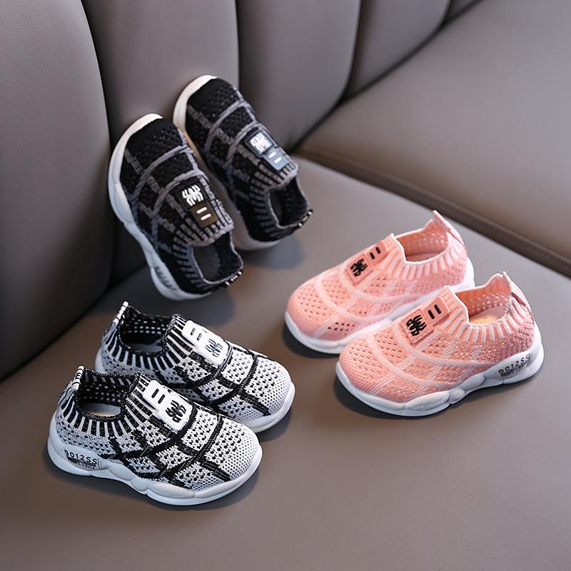 Kids Girls Boys Black Sneakers Running Tennis Sports Casual Athletic Shoes Size