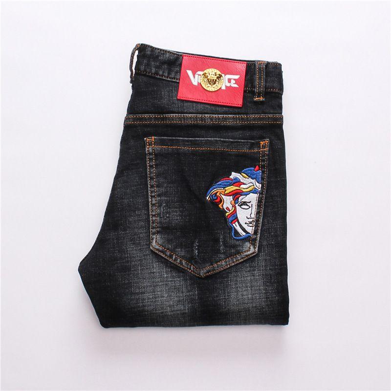 Erkek Giyim Özgün Tasarım Erkekler Moda Jeans Yüksek Kaliteli Pantolon Düz Pantolon Slim Ve Rahat Bbg990 tercih